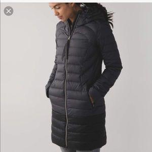 Lululemon down coat 1X size 2 black/light black